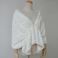 Fur Wraps Capelets Faux Fur White