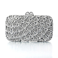 Women's Silver Plating Rhinestone Luxurious Evening Bag