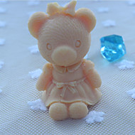 Bear Animal Soap Mold  Fondant Cake Chocolate Silicone Mold, Decoration Tools Bakeware