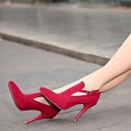 Women's Shoes  Stiletto Heel Heels/Pointed Toe Pumps/Heels Office & Career/Dress Black/Green/Red/Gray