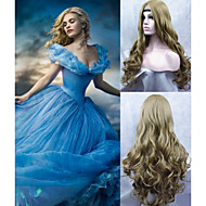 perruque cosplay 2015 nouvelle princesse de film cendrillon longue perruque frisée cendres d'anime cosplay perruque blonde