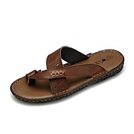 Men's Shoes Outdoor/Athletic/Casual Leather Sandals Brown