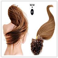 """Brazilský panna lidský prodloužení keratin vlasy pre-vázané hřebík vlasy u spropitné vlasy 18 """"-28"""" 1g / s 100 g / ks 1ks / lot skladem"""