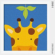 peinture à l'huile numérique bricolage en bois massif avec la peinture de plaisir en famille de trame par moi-même la girafe 2001