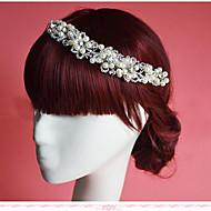 Mujer / Niña de flor Diamantes Sintéticos / Perla Artificial Celada-Boda / Ocasión especial Flores 1 Pieza