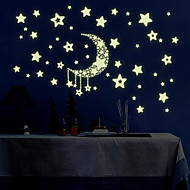 Luminous Wall Stickers Wall Decals Style Star Moon PVC Wall Stickers