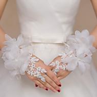 K zápěstí Bez prstů Rukavice Krajka Pro nevěstu / Party rukavičky