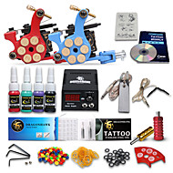 Dragonhawk® Complete Tattoo Kit 2 Machine  4 Color Inks