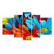 VISUAL STAR®Colorful Flower Stretched Canvas Print Fashion Home Decor Wall Art