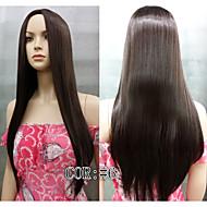 straight hud top lange paryk mode syntetisk hår parykker