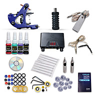 Dragonhawk® Starter Tattoo Kit 1 Machine s 4 Inks Power Supply Needles