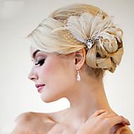 ручной свадебный волосы перо чародей заставки fascinators 007