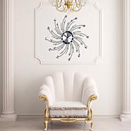 Modern Personality Iron Diamond Design Wall Clock