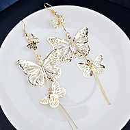 Top Quality European Style Hollow Butterfly Earrings for Wedding Party