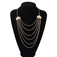 Women's European Style Fashion Wild Multilayer Alloy Necklace