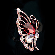 Women's Alloy Butterfly Casual/Party Brooches & Pins With Crystal/Rhinestone