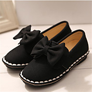 Girls' Shoes Casual Ballerina Leather Loafers Black/Red