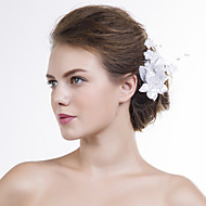 Women Satin Flowers With Imitation Pearl Wedding/Party Headpiece
