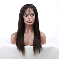 10 '' - 24 '' zijdeachtige rechte 130% dichtheid indian virgin remy menselijk haar pruiken full lace pruiken met baby haar voor blacek