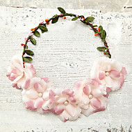 Women's Imitation Pearl/Foam/Fabric Headpiece - Wedding/Special Occasion/Outdoor Flowers 1 Piece