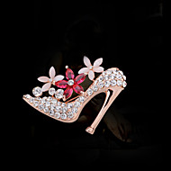 Women's Alloy High Heeled Shoes Casual/Party Brooches & Pins With Crystal/Rhinestone