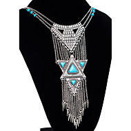 MPL Europe exaggerated retro long Tassel Necklace