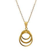 Women's Fashion 18K Gold Plating Individuality Pendant Necklace