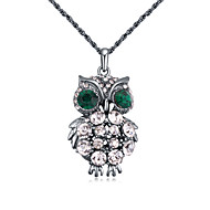 Women's European Style Fashion Owl Alloy Necklace With Rhinestone