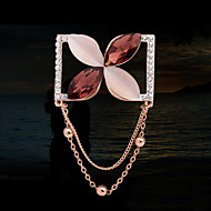 Women's Alloy Flower Casual/Party Brooches & Pins With Rhinestone