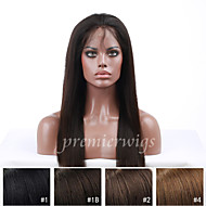 10''-24'' Silky Straight 130% Density Indian Virgin Remy Human Hair Wigs Full Lace Wigs With Baby Hair For Blacek Women