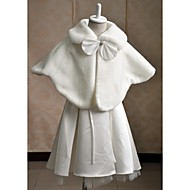 Kids Wraps Capelets Sleeveless Faux Fur Ivory