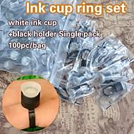 100db tartós smink festék csésze gyűrűt pigmentek sapkák szivaccsal festék birtokosa egységes csomagolás