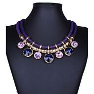 Femme Colliers Déclaration Gemme Alliage Mode Bijoux de déclaration Noir Violet Rouge Bleu Bijoux PourSoirée Occasion spéciale