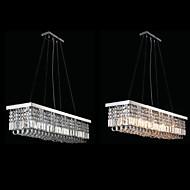 LED K9 Crystal Pendant Lights Ceiling Chandelier Lighting Hanging Lamp Fixtures with 120CM*25CM CE UL FCC