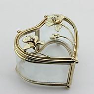Modern Glass Jewelry Box With Heart Shape Wedding Gifts
