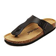 נעלי נשים - כפכפים - דמוי סוויד - נוחות - שחור / לבן - שטח - עקב שטוח