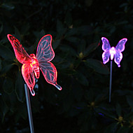 Pack of 2 Solar Color-Changing Butterfly Garden Stake Light