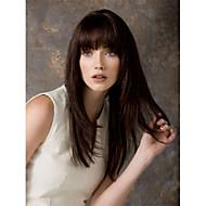 høy kvalitet Fuel lang bølget mono topp virgin Remy menneskelig hår parykker 7 farger å velge