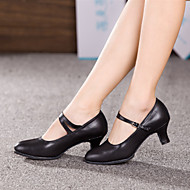 Non Customizable Women's Dance Shoes Modern Leather Cuban Heel Outdoor  More  Colors