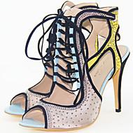 Women's Sexy high heels Stiletto Heel Peep Toe Gladiator Rhinestone Sandals Party Shoes