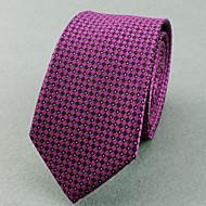 Gravatas (Roxa , Poliéster) Padrão Diagonal/Estampado/Pontos/Forma Livre