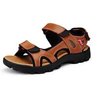 Sapatos Masculinos - Sandálias - Preto / Marrom - Couro - Ar-Livre / Casual / Para Esporte
