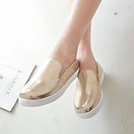 נעלי נשים - מוקסינים - דמוי עור - מעוגל - שחור / כסוף / זהב - משרד ועבודה / שמלה - עקב שטוח