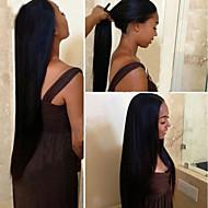 """recta pelucas delanteras peruanos pelo virginal del cordón del pelo humano para las mujeres negras 8 '' - 24 """"con el pelo del bebé (# 1, #"""