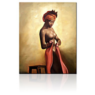 VISUAL STAR® Indian Women half-naked Oil Painting Printed on Canvas Ready to Hang