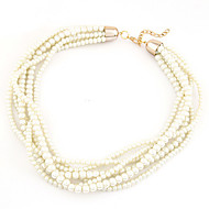 Women's Fashion Elegant Wild Multilayer Alloy Imitation Pearl  Necklace