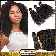 저렴한 febay 헤어 제품 6A 처리되지 않은 말레이시아 처녀 머리 곱슬 곱슬 1bundle / 많은 100 % 인간의 머리