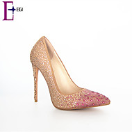 2015 New Design Fashion Wholesale Bling Bling Damond Girl Party Dresses Shoes Ladies High Heel Pump