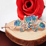 Women's Rhinestone/Alloy Headpiece - Casual Butterfly Hair Pin 1 Piece