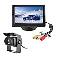 RenEPai® 5 Inch HD Monitor +  BUS 170°HD Car Rear View Camera Waterproof Camera Cable length 6M, 10M, 16M, 20M,